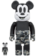 BE@RBRICK BAPE(R) MICKEY MOUSE MONOTONE Ver. 100% & 400%