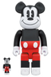 BE@RBRICK MICKEY MOUSE (R&W 2020 Ver.) 100% & 400%